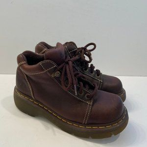 Dr. Martens Brown Lace Up Lug Boots VTG